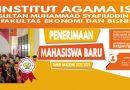 Info Penerimaan Mahasiswa Baru IAIS Sambas Tahun Akademik 2021/2022