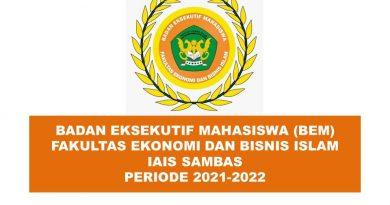 SK Dekan FEBI Tentang Pengurus Badan Eksekutif Mahasiswa (BEM) FEBI Periode 2021-2022